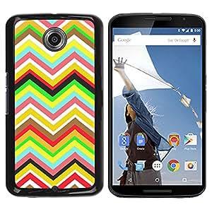 - Chevron Pattern V shapes - - Monedero pared Design Premium cuero del tir¨®n magn¨¦tico delgado del caso de la cubierta pata de ca FOR Google Nexus 6 & Motorola Nexus 6 Funny House