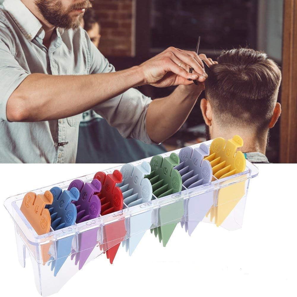Juego de cabezales de corte para cortapelos Pro-Power 8 Tamaños Lote de peines guía de repuesto para cortapelo