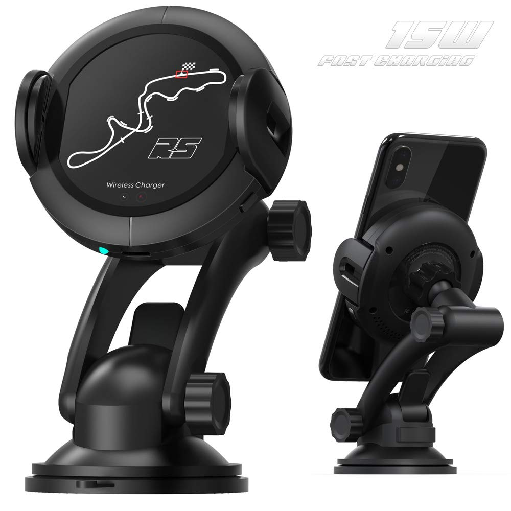 Wireless Car Charger Mount - Fast Qi Car Charger for Samsung Galaxy S8/S9/Note 8. Wireless Charger Car Mount for iPhone XS 8/8Plus. Air Vent Phone Holder with Automatic Infrared Motion Sensor - 15W by liuzhun