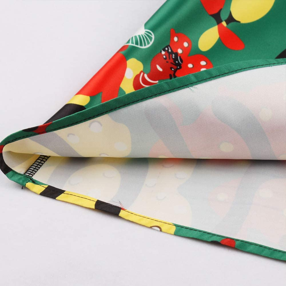HZD Abito Vintage con Stampa Farfalla Farfalla Senza Maniche Pin Up Swing Elegante Abito da Festa Estate Casual A Line Abiti Green