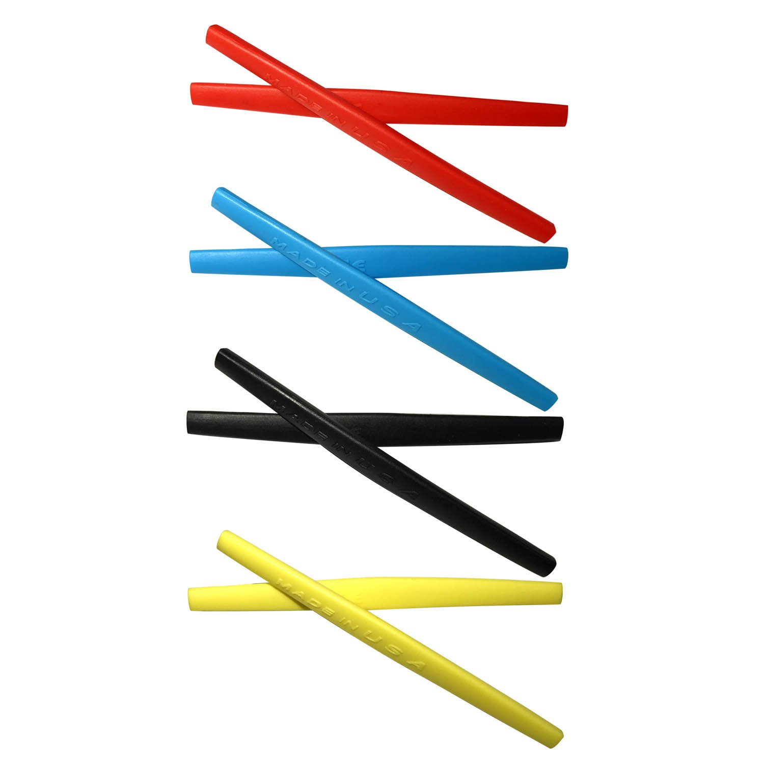 HKUCO Red/Blue/Black/Yellow Replacement Silicone Leg Set For Oakley Square Wire 2.0 Sunglasses Earsocks Rubber Kit
