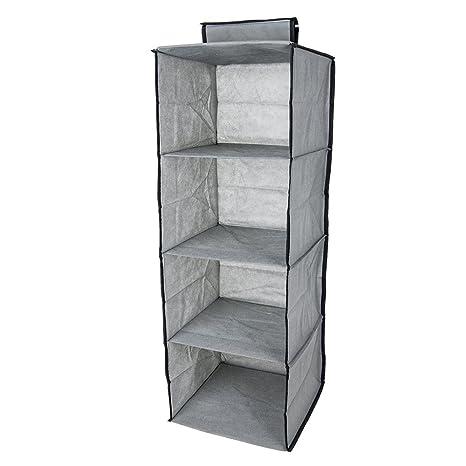 Henweit – Armario para colgar estantes de almacenamiento estante de 4 abrigo Jersey Ropa Ropa Armario