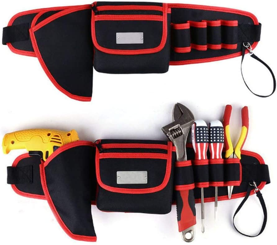 9 in 1 Electrician Waist Pocket Tool Belt Pouch Bag Screwdriver Kit Holder MP