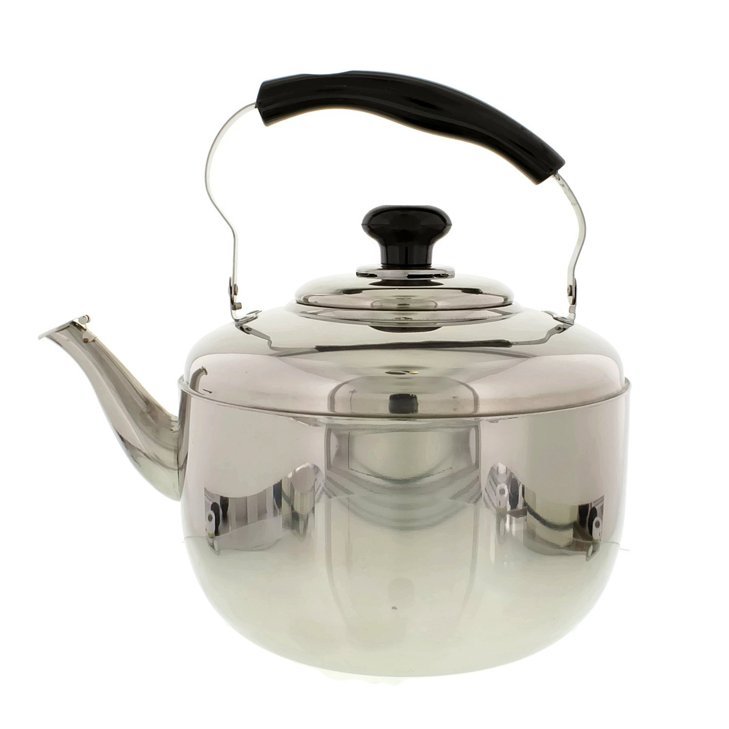 Cheftor Large 7QT (6.8L) Stainless Steel Tea Kettle with Ergonomic Handle for Home or Restaurant