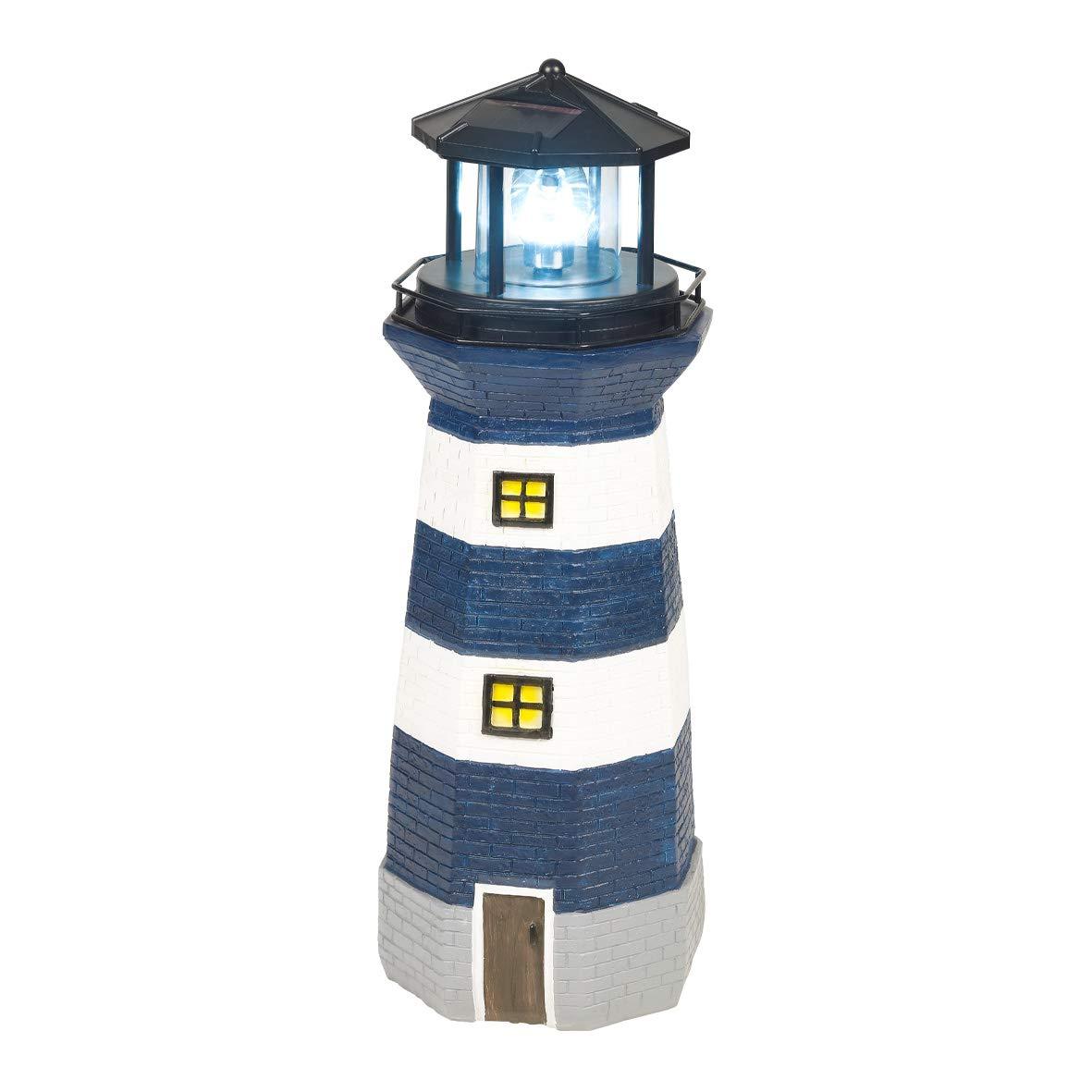 Groovy Gardenkraft 11280 Solar Revolving Led Lighthouse Decorative Wiring Database Brom4X4Andersnl