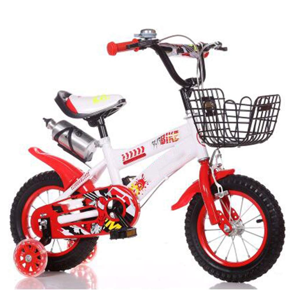 Axdwfd Kinderfahrräder Kinderfahrräder Kinderfahrrad12   14 16 18 20 Zoll Jungen und Mädchen Radfahren, Geeignet für Kinder 2-11 Jahre alt Blau, Rot rot 12in