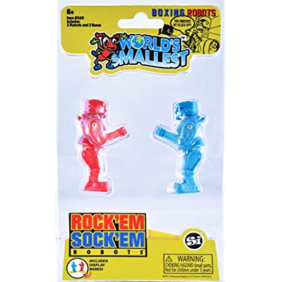 Worlds Smallest Rock 'Em Sock 'Em Robots: Toys & Games