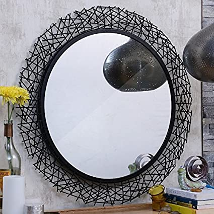 criss cross decorative wall mirror for living room amazon in home