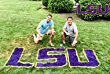 LOUISIANA STATE UNIVERSITY LAWN STENCIL KIT - PAINT THE LSU LOGO ON YOUR YARD - LAWN -TAILGATE - FOR THE BIGGEST FAN - REUSABLE STENCIL AND PAINT