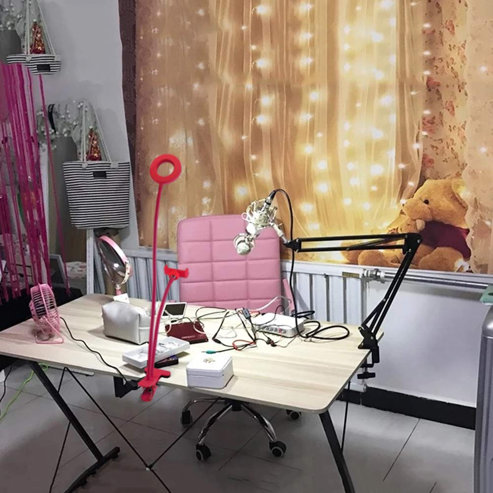... And Makeup [Modo De 3 Luces] Con 360 Brazos Giratorios Largos Para Iphone, Teléfono Android, Uso En Youtube, Facebook, Instagram, Twitter, Chat En Vivo, ...