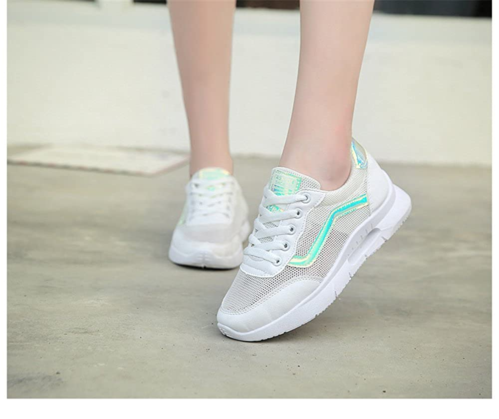 Womens Sneakers Flat Shoes Lightweight Walking Shoes Quality.A Fresh Casual Shoes