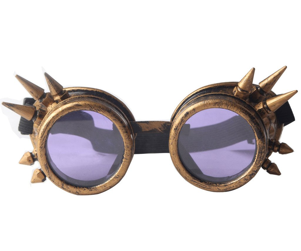 FUT ABS Spiked Goggles Steampunk Glasses Cosplay Goggles Rustic Costume Props