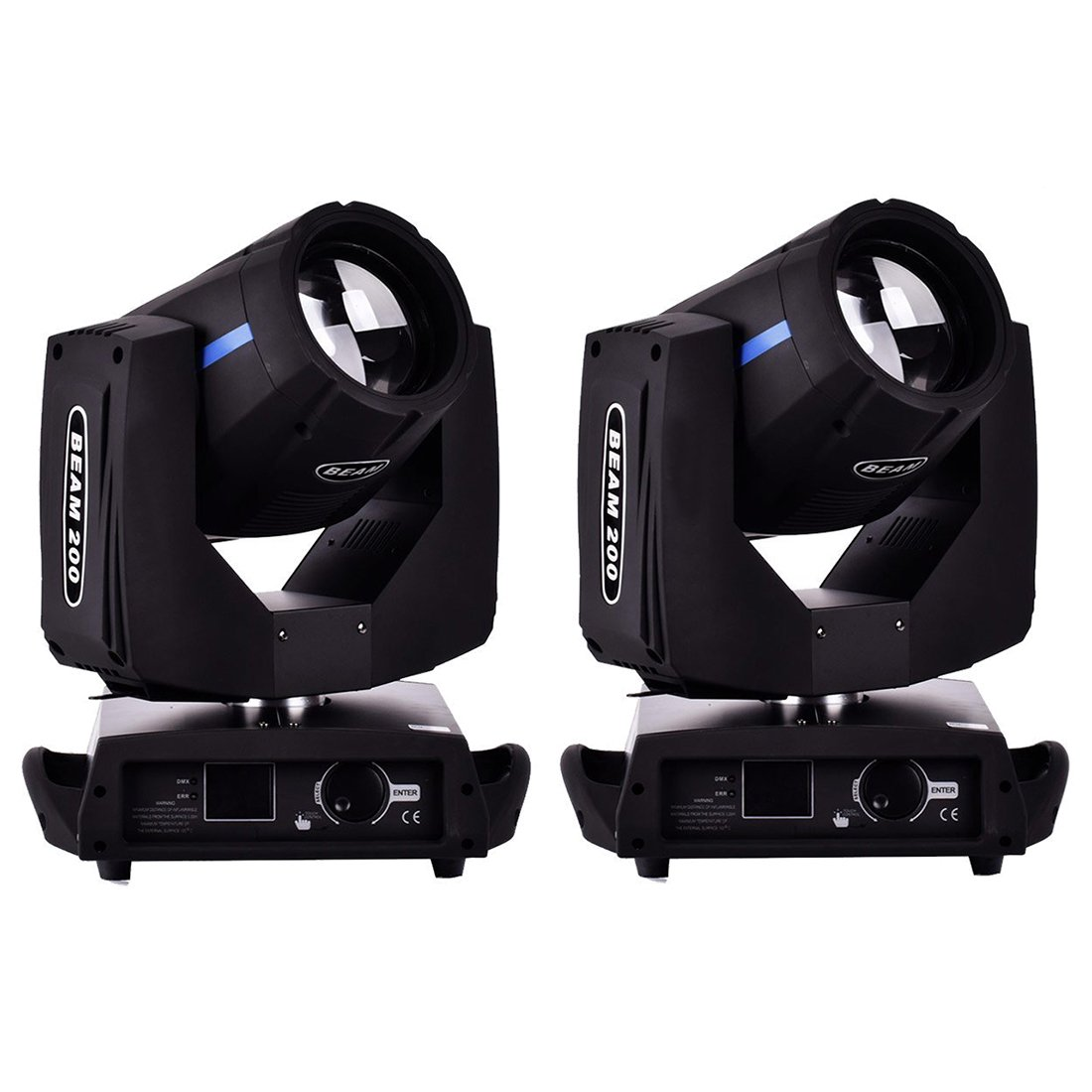 LED Moving Head Light - SODIAL(R) 2pcs 200W DMX512 16CH LED Moving Head Light