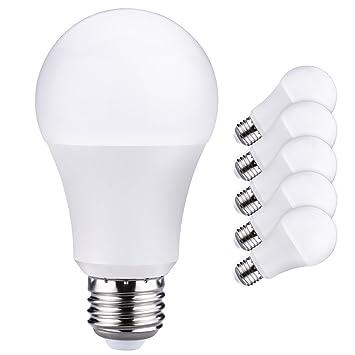 Litom bombillas, 9 W (60 W equivalente) 3000 K A19 bombillas LED, 800 lúmenes suave blanco E26 LED iluminación de 6 unidades: Amazon.es: Bricolaje y ...