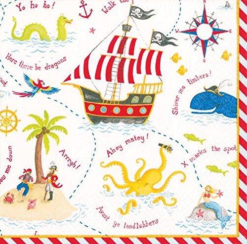 Caspari Yo Ho Ho! Paper Luncheon Napkins - 20 Per Package (14640L) (Party Pirate Luncheon Napkins)