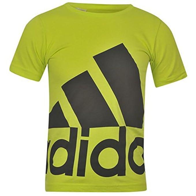 adidas Kids over Sized Logo T Shirt Junior - Sudadera Top Camiseta de manga corta cuello redondo Amarillo SolYellow/Grey extra-large: Amazon.es: Ropa y ...