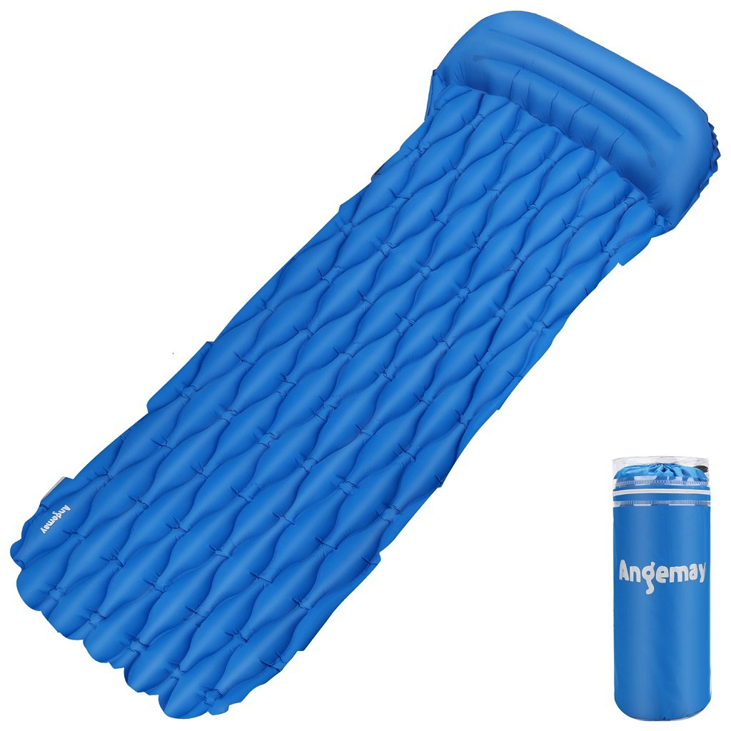 a20ba67eefb Angemay Sleeping Pad for Camping Ultra-Compact Camping Air Mattress for  Backpacking