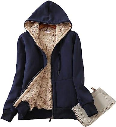 Manteau d/'hiver Sweat-shirt Polaire Couverture Manches Pullover Polaire Douce Chaude