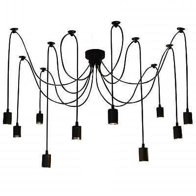 Reayou E27 Lustre Creative Edison Lustre Antique Diy 10 Lampes