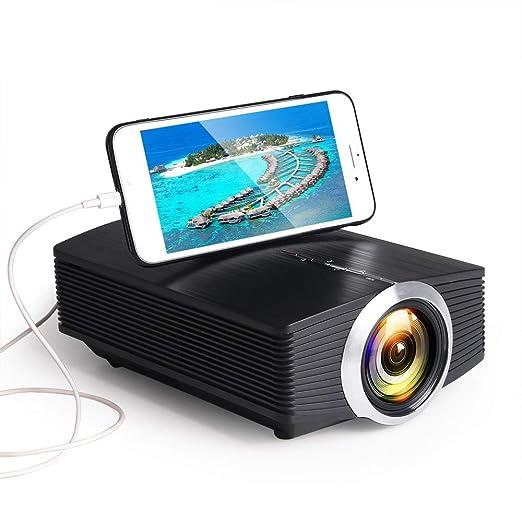 AI LIFE Mini proyector 2000 lúmenes LED LCD VGA HDMI Soporta ...
