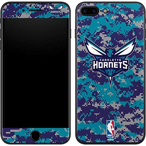 Skinit Charlotte Hornets Digi Camo iPhone 8 Plus Skin - Officially Licensed NBA Phone Decal - Ultra Thin, Lightweight Vinyl Decal Protection
