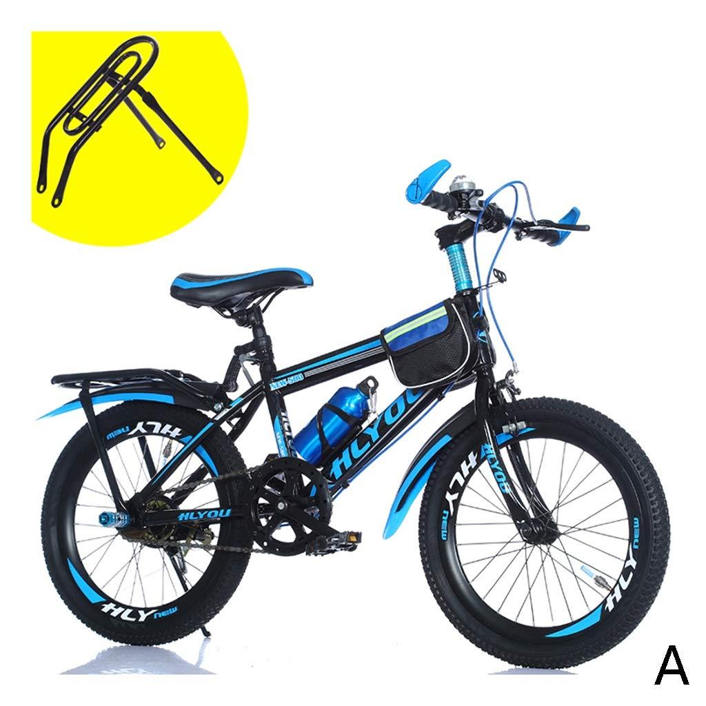 Bici per bambini Studente Bicicletta Mountain Bike Ragazzo Bicicletta Bicicletta Bicicletta Bicicletta Scuola primaria, 18 Pollici, Singola velocità (Colore   C, Dimensione   18inches(120  20  80cm))