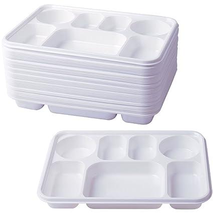 Deluxe 7 de almacenamiento de plástico de alta resistencia platos llanos 50 piezas desechables para fiesta