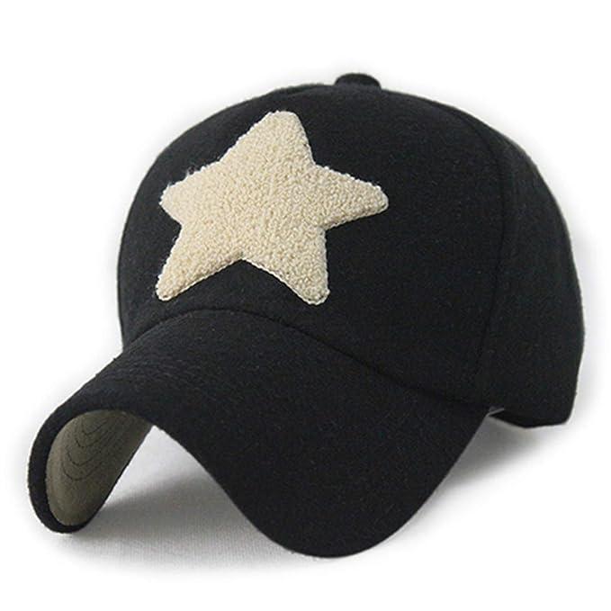 1437bfe5f722d Eric Carl Fashion Wool Baseball Cap Adjustable Snapback Hat Star ...