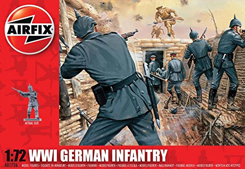 Kit 1 Figure - Airfix A01726 1:72 Scale WWI German Infantry Figures Classic Kit Series 1