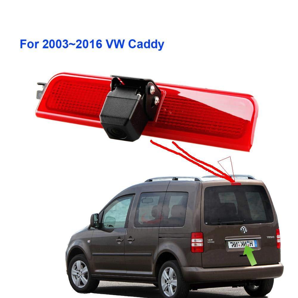 R/ückfahrkamera R/ückfahrsystem Einparkhilfe Transporter mit dritte Bremsleuchte Farb-R/ückfahrkamera f/ür VW Caddy 2003-2014