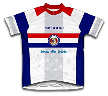 Amazon.com   ScudoPro Missouri Flag Short Sleeve Cycling Jersey for Women    Clothing fb44329b2