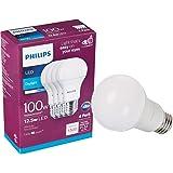 Philips 542976 foco LED no regulable A19: 1500 lúmenes, 5000 Kelvin, 15 (100 W equivalente), base E26, luz de día, 4…