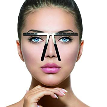 Tattoo Eyebrow Ruler Three Point Positioning Permanent Makeup Symmetrical Tool Grooming Stencil Shaper Balance Ruler 1