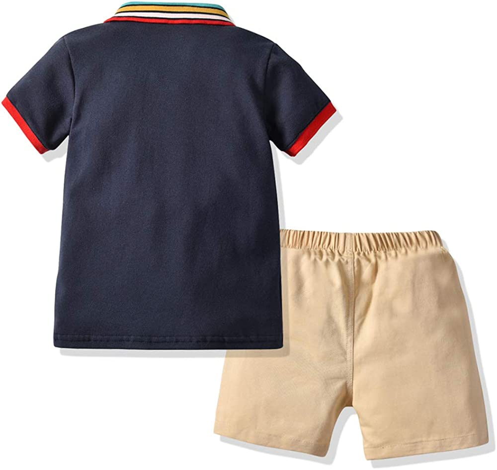 Infant Short Sleeve Shirt+Shorts Clothes Set Moyikiss Studio Baby Boys Gentleman Outfits Wedding Suits