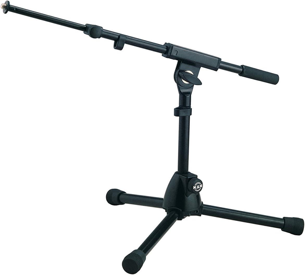 K & M Microphone Stand - very low level w/2 piece boom arm