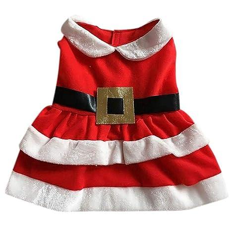 WYBF Ropa para Perros Navidad Perros pequeños Disfraz de ...