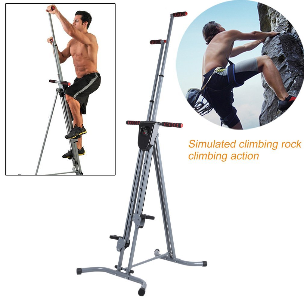 OUTAD Vertical Climber with Cast Iron Frame and Digital Display | Full Total Body Workout Fitness Folding Cardio Climber Exercise Machine for Home Gym, As Seen on TV