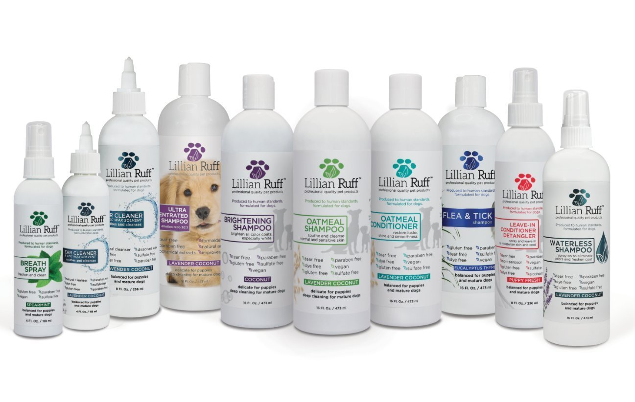 Lillian Ruff Flea and Tick Shampoo for Dogs with Aloe Vera - Soothe the Itch and Repel the Critters with Natural Essential Oils - Balanced for Puppies and Mature Dogs (16oz) by Lillian Ruff (Image #7)