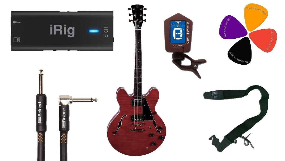 Guitar Recording Pack Color iRig HD2/Guitarra eléctrica Semiacústica/accesorios: Amazon.es: Instrumentos musicales