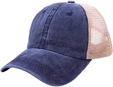 5x Béisbol Lisa Gorra Ajustable Escuela Niños Niñas Niños Sombrero de verano para niños