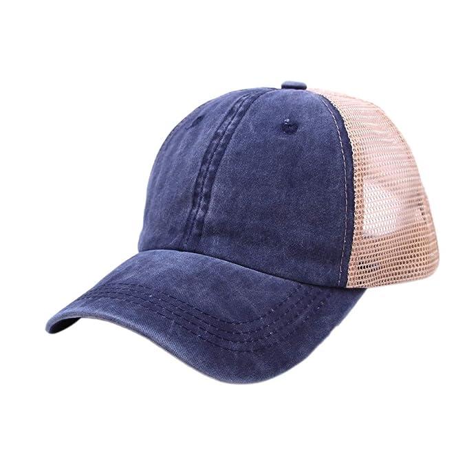 Sombrero, Gorra de béisbol en Blanco de Color sólido Ajustable del ...