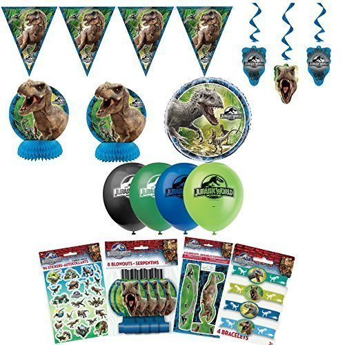 Unique Jurassic World Dinosaur Birthday Party Favors and Decorations Pack (Jurassic World Rubber Bracelets)