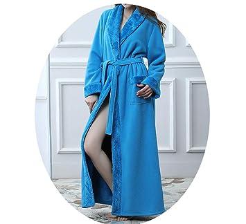 Sleepsuits Pijamas Par De Otoño E Invierno, Albornoces, Franela Delicada Costura Parejas Batas De