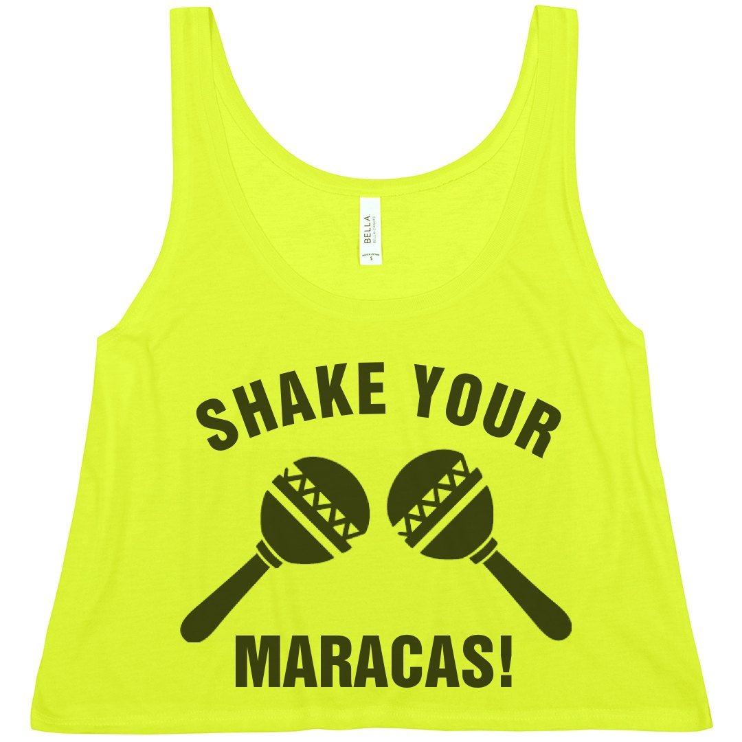 Amazon.com: Shake Your Maracas!: Bella Ladies Flowy Boxy Cropped Tank: Clothing