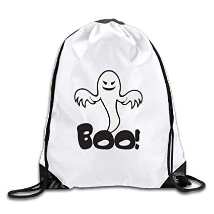75d280f700 Image Unavailable. Image not available for. Color  Halloween Boo Ghost  Spooky Cool Drawstring Backpack Drawstring Bag