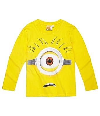 528edc6d06faa Minions Despicable Me Garçon Tee-shirt manches longues - jaune - 10 ans