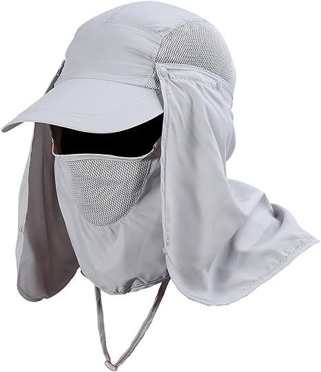 oueaen Parapluie de Couvre-Chef Chapeau de p/êche de Casquette de Parapluie sans Mains en Plein air Protection UV imperm/éable l/éger