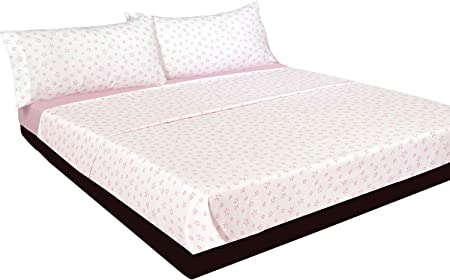 Montse Interiors Juego de sábanas Estrellas Rosas Algodón 100% (A-Paris Rosa, para Cama de 90x190/200): Amazon.es: Hogar