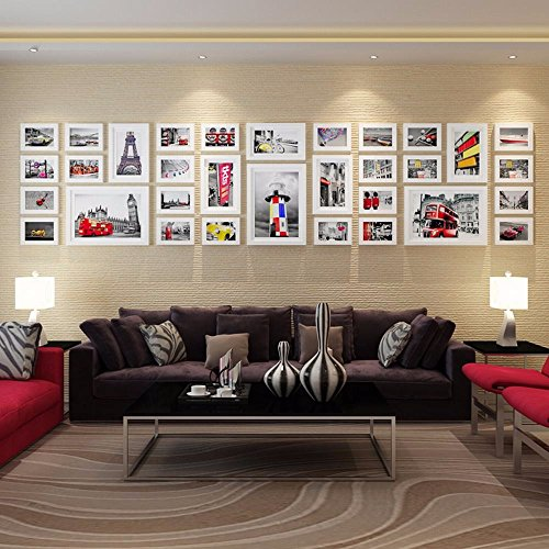 WUXK Minimalist modern living room wall photo frame wall European creative background wall photo frame photo wall large sizes, 1 by WUXK