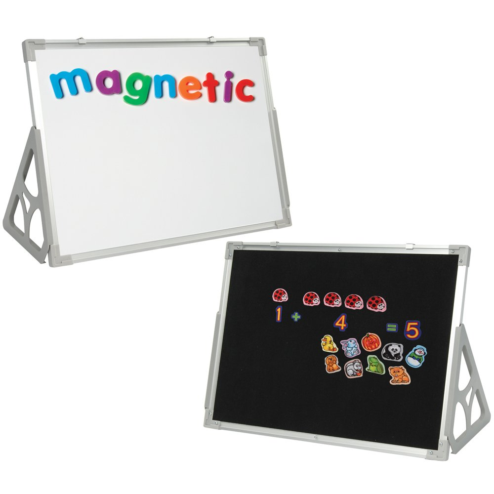 Constructive Playthings 3 'N 1 Magnetic Wipe-Off, Flannel Board & Stand - 24'' x 36''